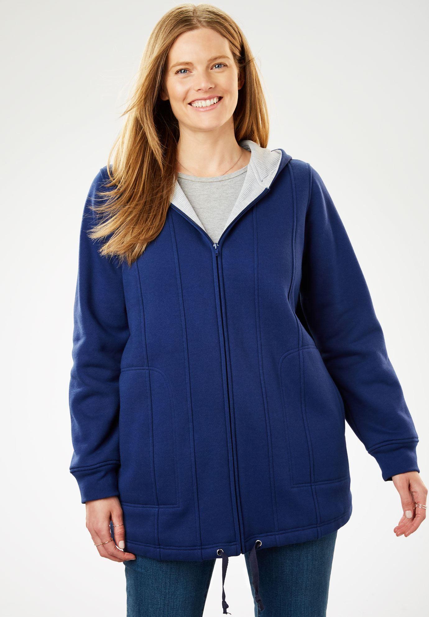ThermalLined Hooded Fleece Jacket Fleece jacket womens