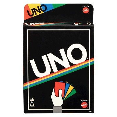 Uno Card Game Retro Edition Products Uno Card Game