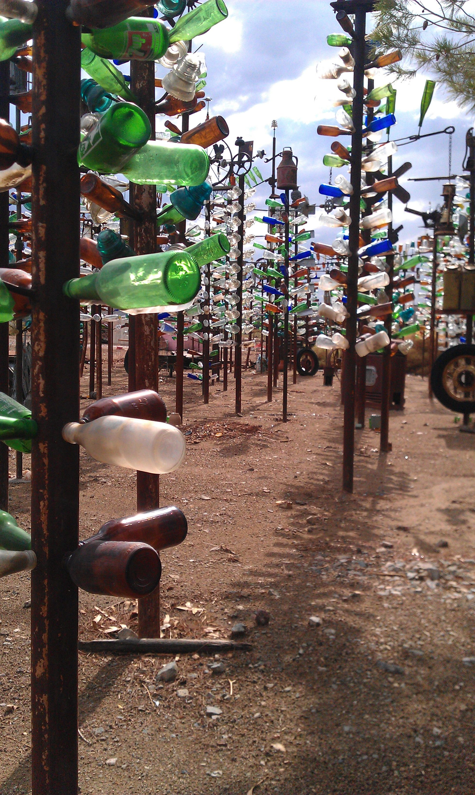 "The ""Bottle Tree Ranch"" on Route 66 near Victorville California"