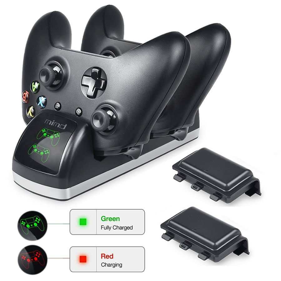 Kyvg Xbox One Controller Dual Usb Charger Stand Xbox One One S One X Rechargeable Battery Controller Charging Station Xbox One Controller Xbox One Dual Usb