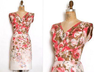 vintage dress...adore times a million