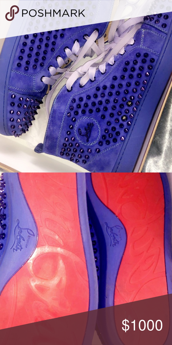 0e22aa5da41 Worn once Royal Blue authentic Christian Louboutin sneakers. Paid ...