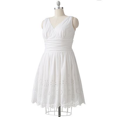 Expo Eyelet Empire Dress - Super cute but too pricey for Kohl's