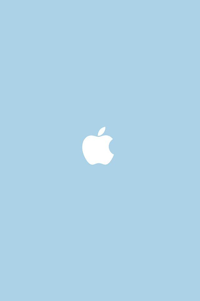 Freeios7 Com Apple Wallpaper Apple Simple Logo Blue Iphone4