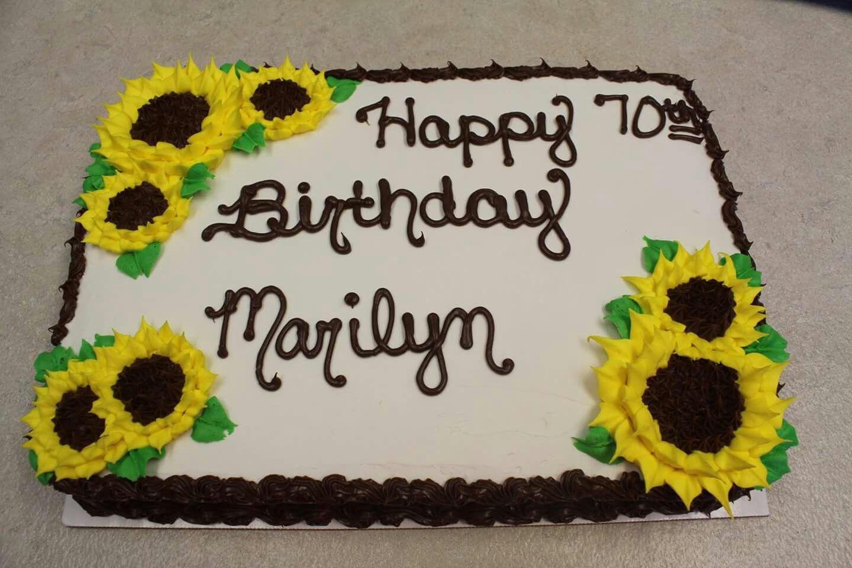 Sunflower birthday sheet cake in 2020 | Birthday sheet ...