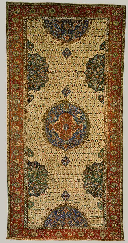 Medallion Ushak Carpet Early 17th C Ottoman Western