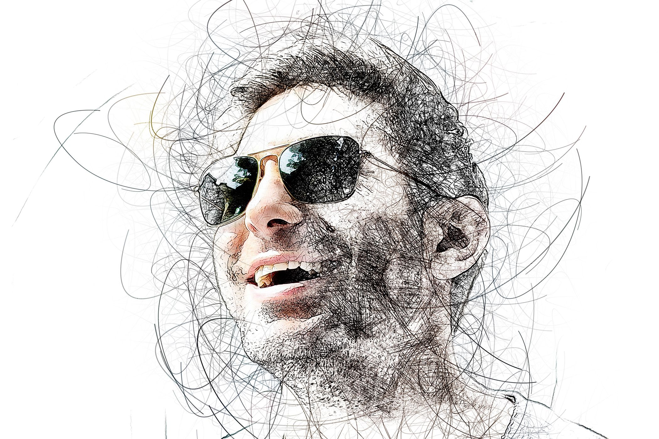 Portrait Scribble Sketch Art Photoshop Action Photoshop Actions