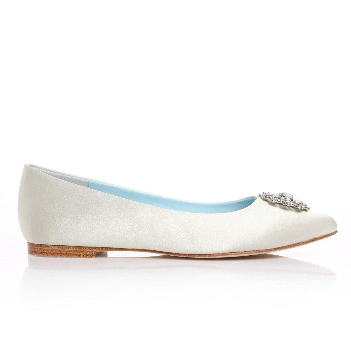 Crystal White Wedding Flats Wedding Flats Wedding Shoes Crystals