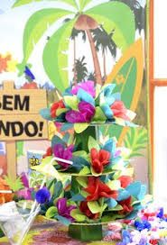 Resultado de imagem para festa havaiana na piscina