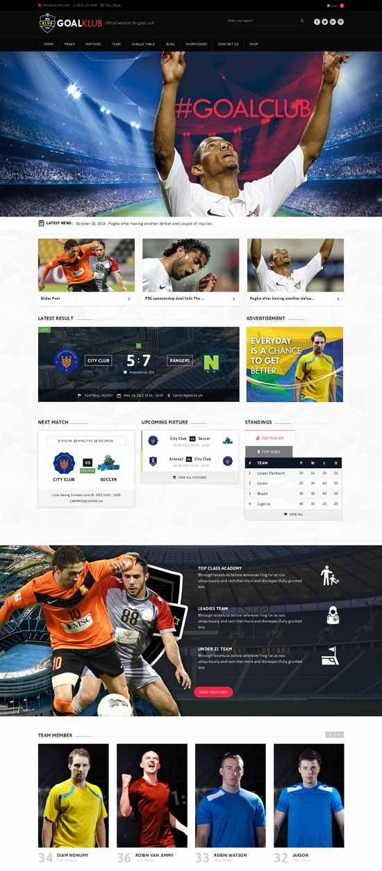goal-club-sports-events-wordpress-theme | Sports WordPress Themes ...