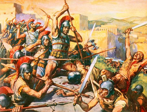 The Battle Of Thebes 335 B C E Was A Major Victory For