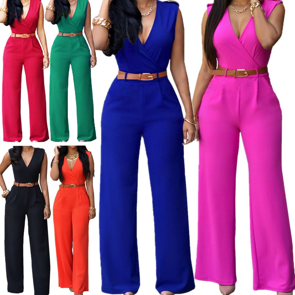 7f040a86bd Women Jumpsuit Romper Sleeveless Playsuit Clubwear Trousers Bodycon Pants  Outfit  Daisland  Jumpsuit  Casual