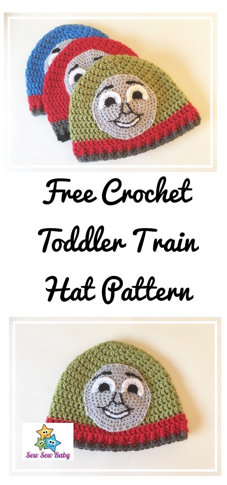 Free crochet pattern for toddler Thomas Henry and James Tank Engine ...