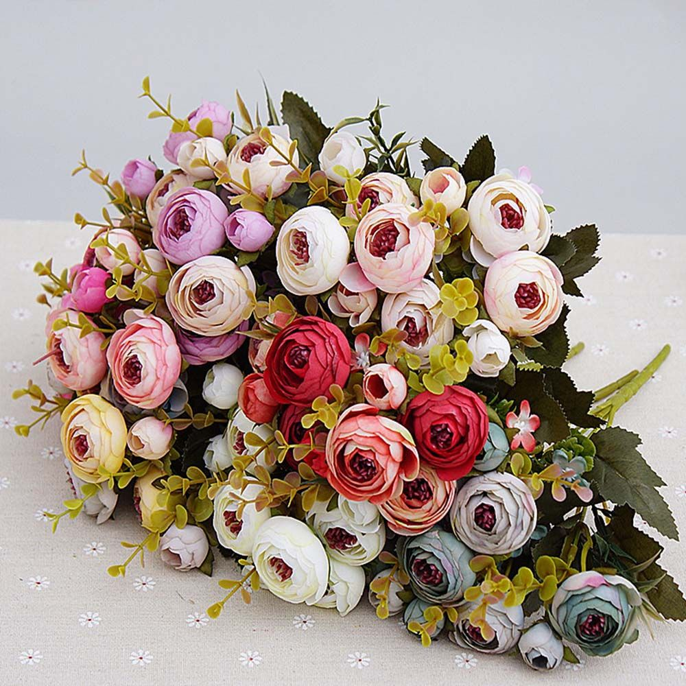 Cheap Artificial Flowers Buy Quality Bride Bouquet Directly From China Fake Plants Suppliers 10heads 1 Artificial Flowers Tea Roses Cheap Artificial Flowers