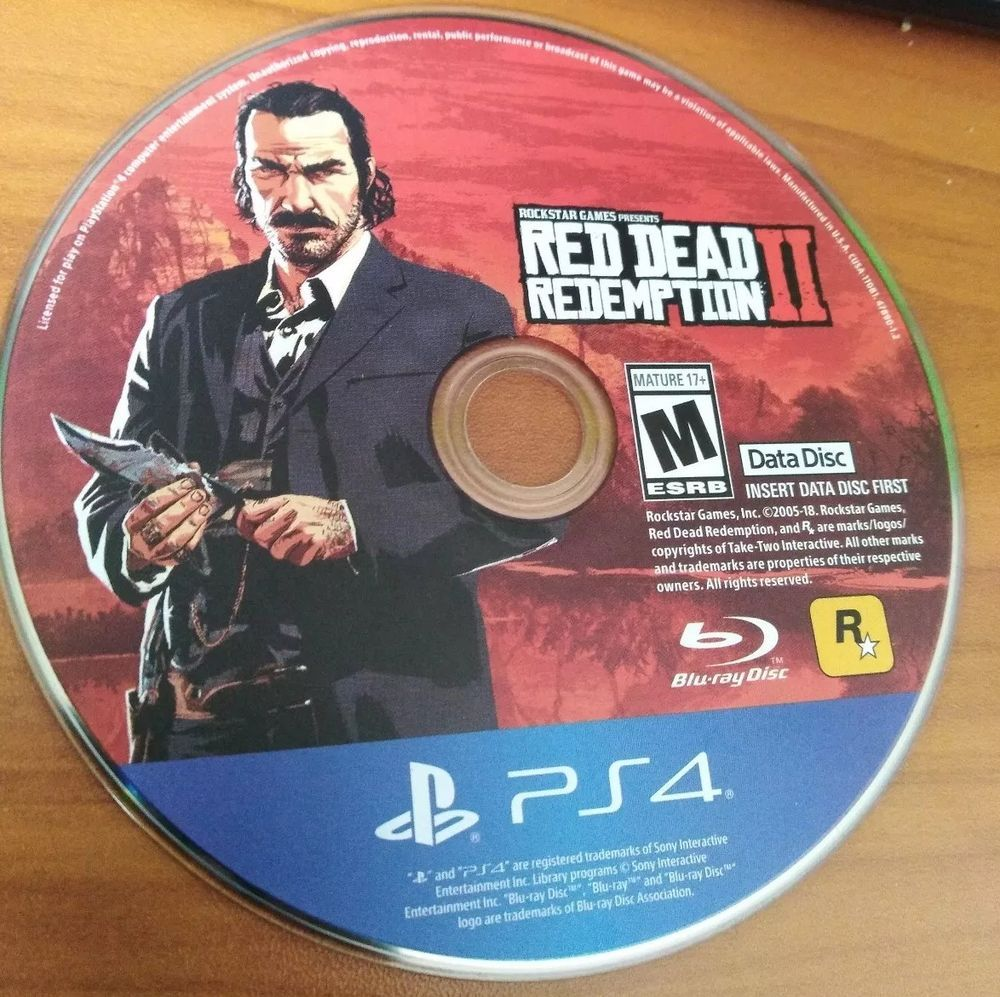 Red Dead Redemption Ps4 Install Data Disc 1 Only