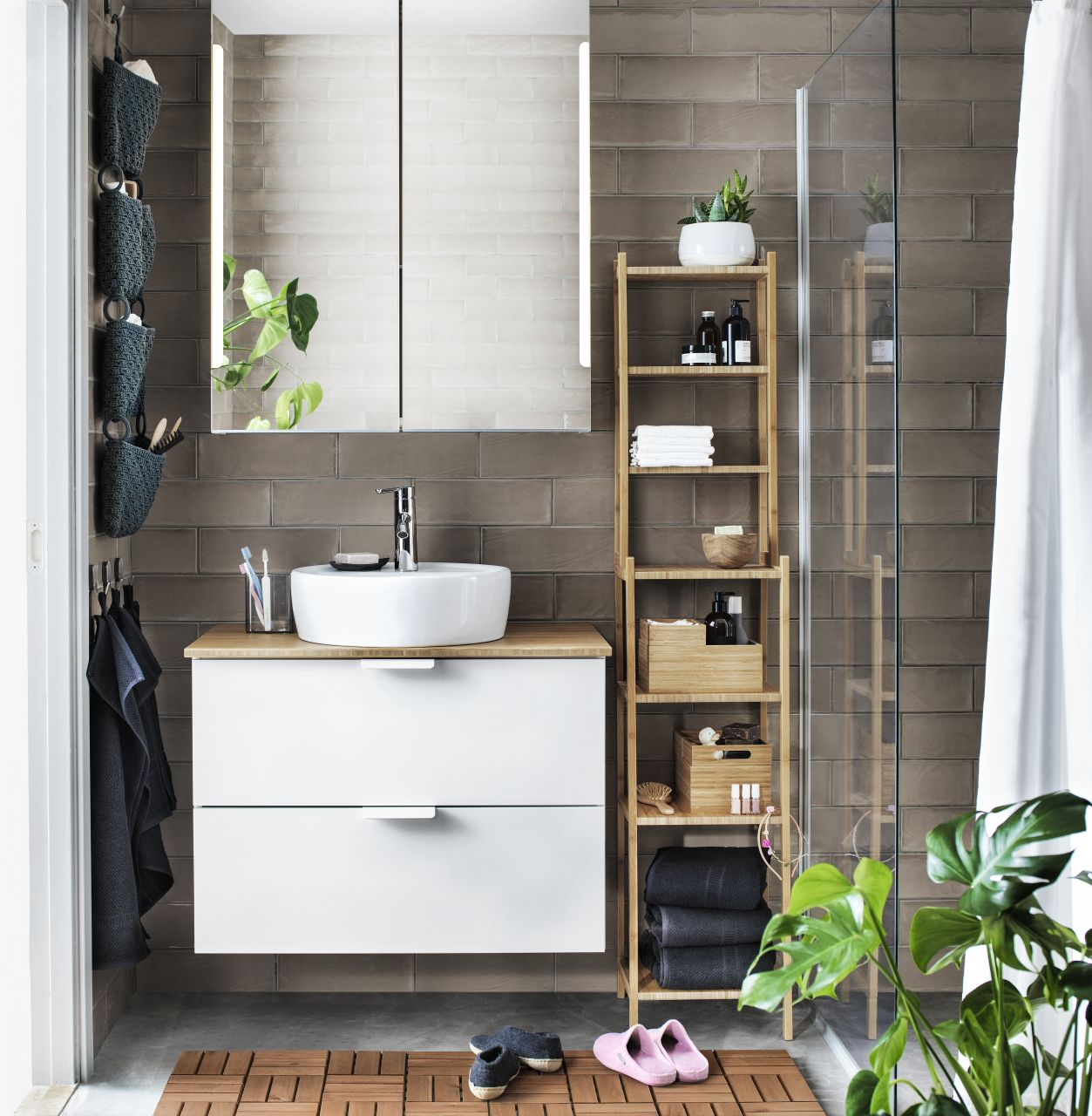 Pin by IKEA Baltics on Bathroom Narrow bathroom storage