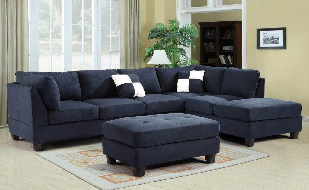 G630 Reversible Sectional Set Navy Blue Blue Couch Living Room