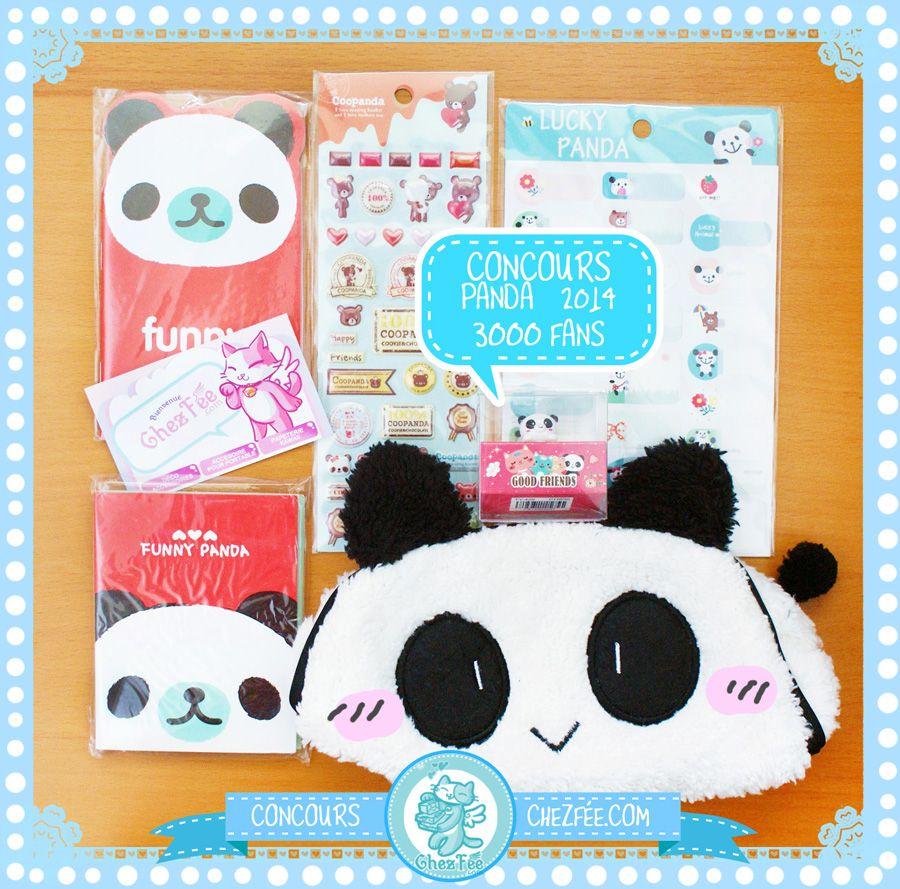 Un nouveau jeu concours kawaii sur le thème du PANDA~ \(^x^)/ Durée: 12 MAI 2014 - 3000 Fans sur notre page facebook. Bonne chance à tous! ^u^ - www.chezfee.com