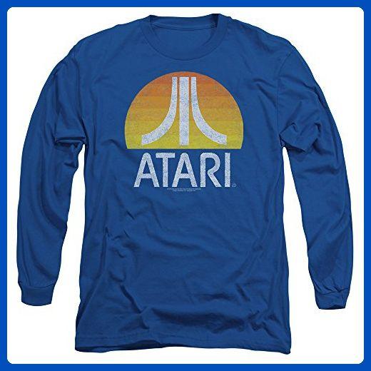 Atari Sunrise Eroded Adult Crewneck Sweatshirt