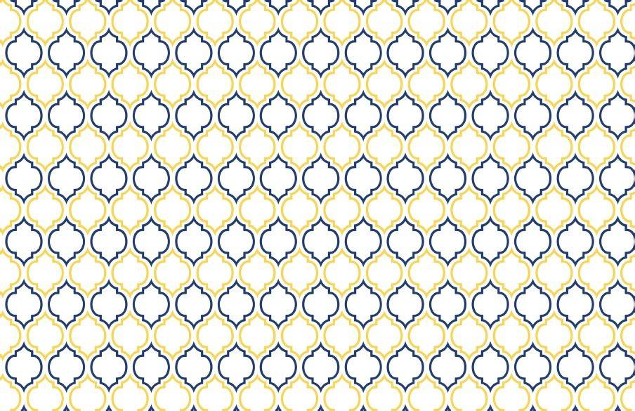 un papier aux motifs géométriques en bleu et jaune orangé... créés à l'occasion du mariage princier, ce sont au total 4 papiers coordonnés et un set complet pour une fête que vous pourrez trouver dans ce téléchargement offert par Jennifer Sbranti (blog HWTM)