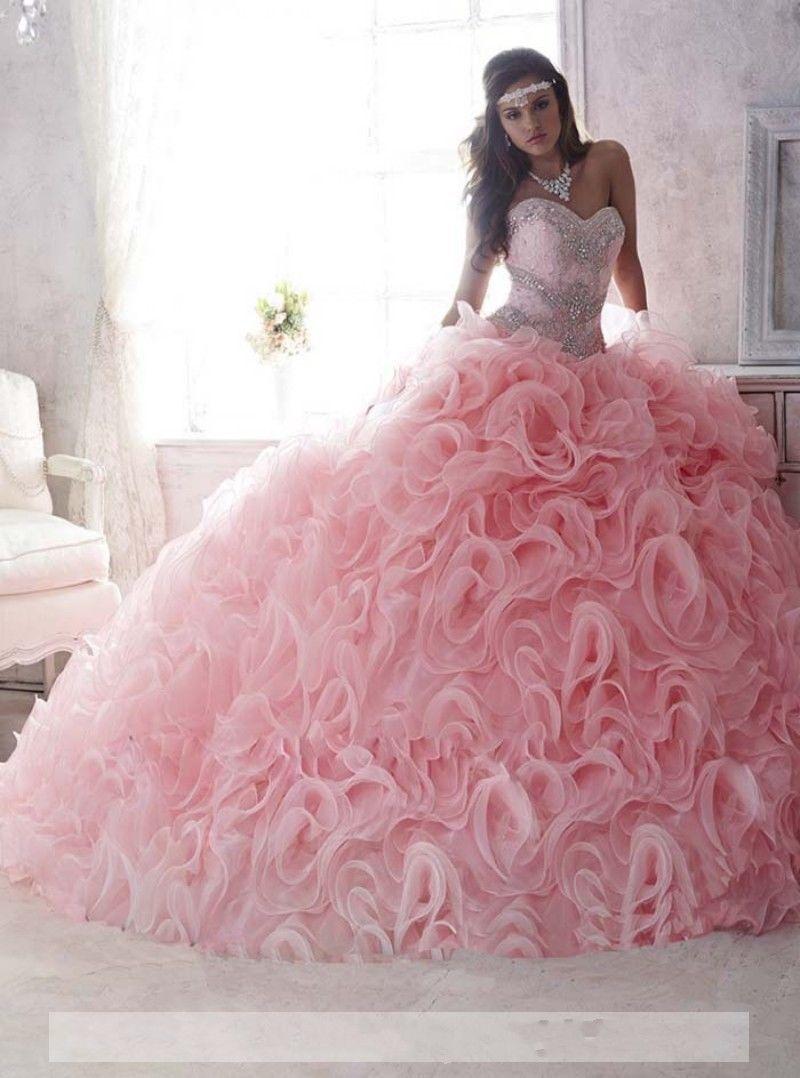 423e49208 Coral quinceanera dresses Vestidos de 15 anos Cheap quinceanera gowns Sweet  16 dresses Vestidos de quince anos 2016 Debutante