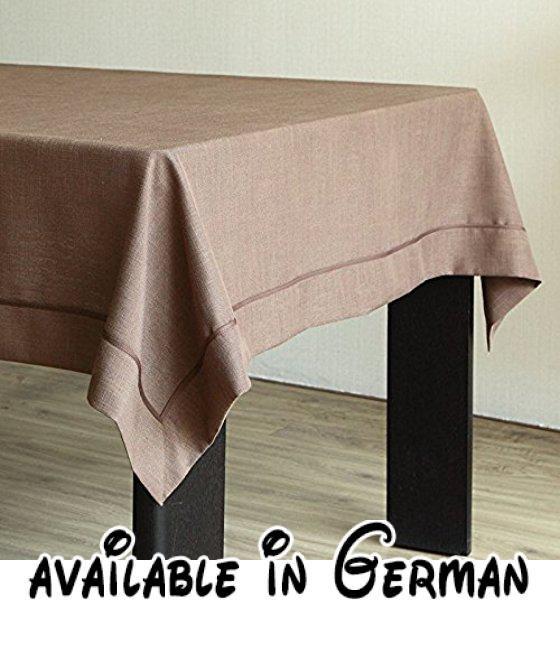 WFLJL Tischdecke Rechteck Esstisch Baumwolle und Leinen Farbe - wohnzimmer farben beige