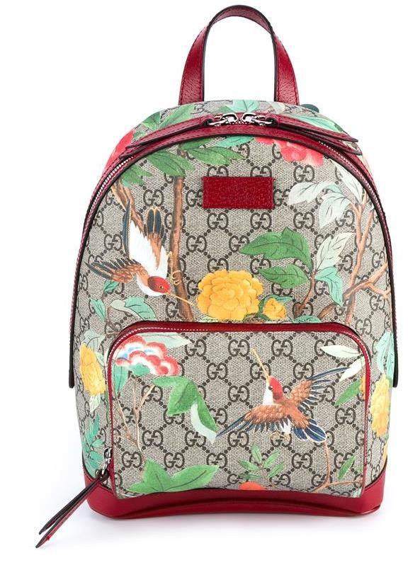 a99af7fa0067 GUCCI Tian Garden Canvas Backpack