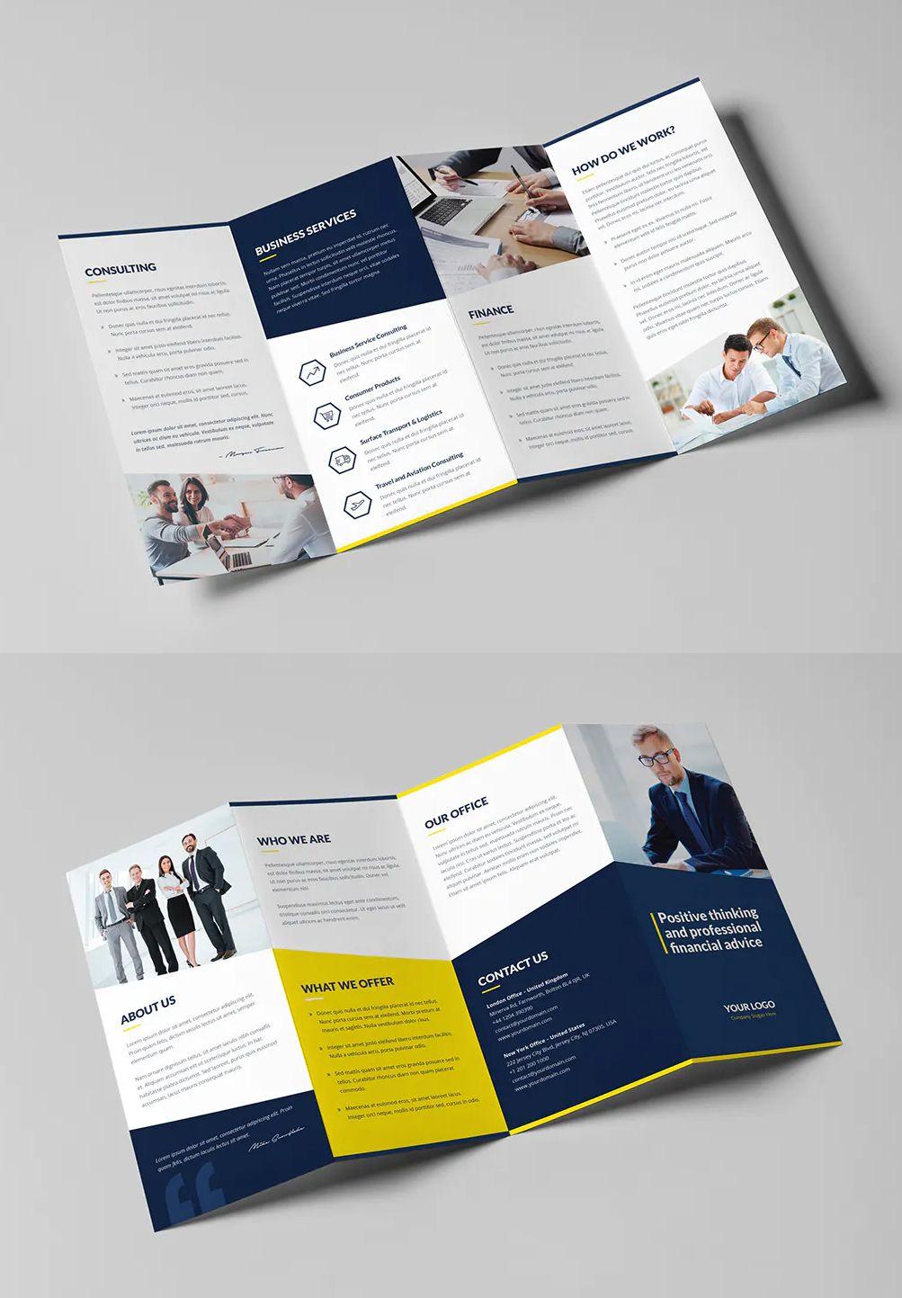 Finance And Business 4 Fold Brochure Template Psd Business Brochure Brochure Template Brochure Template Psd