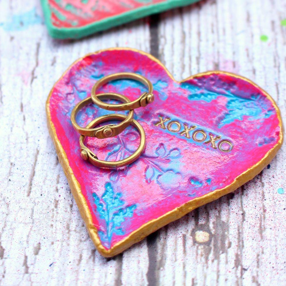 Easy Valentine's Day Gift Idea Clay Ring Dish — kinueko