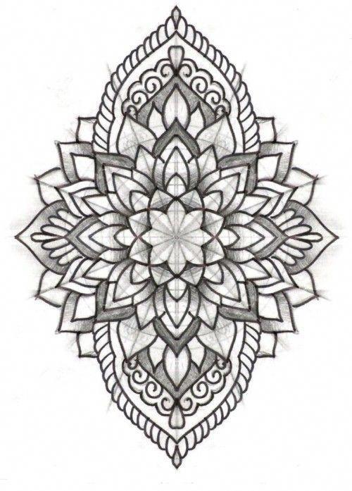 Simple Pattern Tattoos Patterntattoos Geometric Tattoo Mandala Sketch Pattern Tattoo