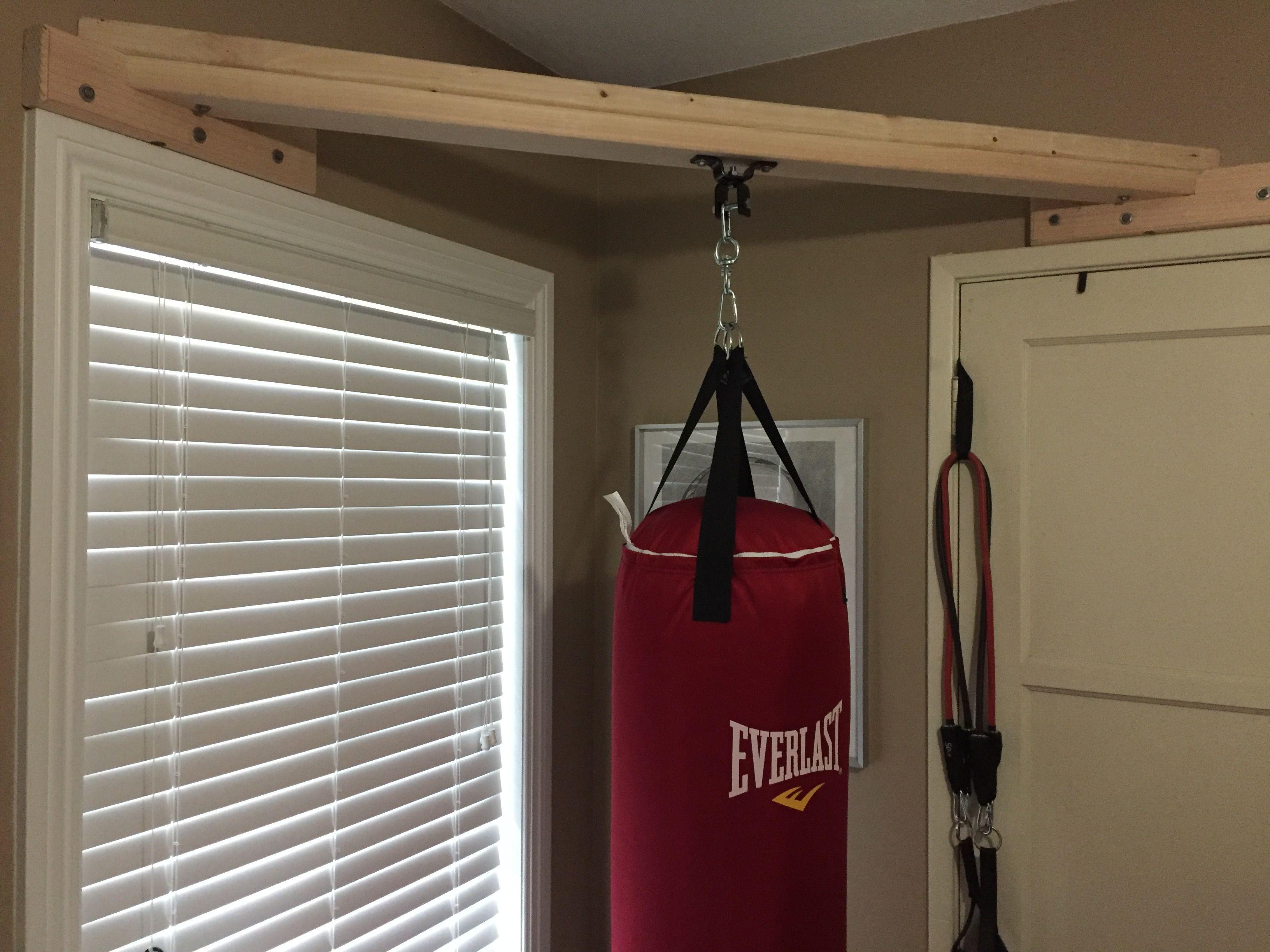 Diy 2x4 punching bag mount 14 4in lag screws in wall