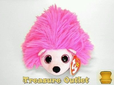 Ty Beanie Babies Stuffed Plush Pink Hedgehog Lilly 6in With Tags