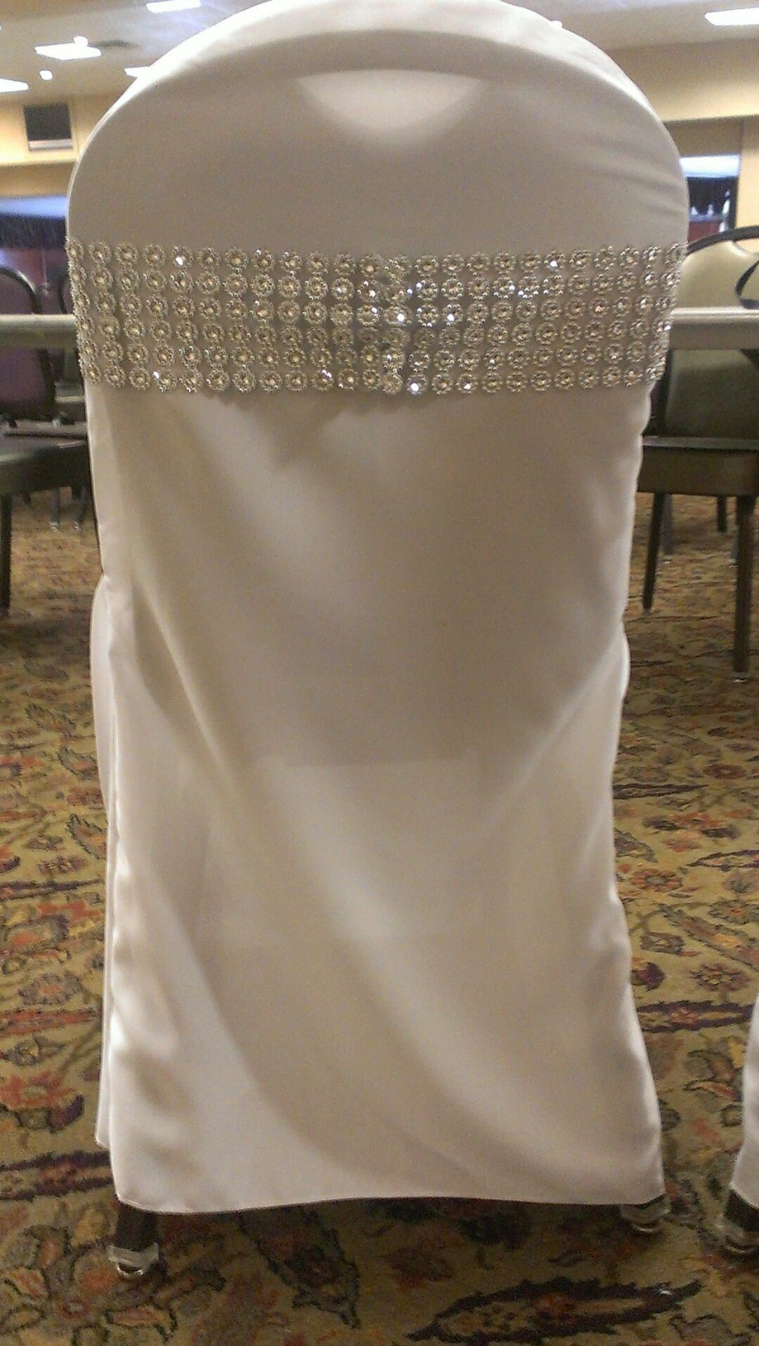 """Rhinestone """"bling"""" chair sash Email us to order"""