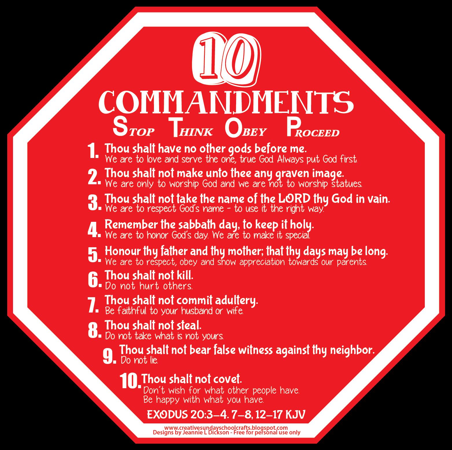 Ten Commandments Visual