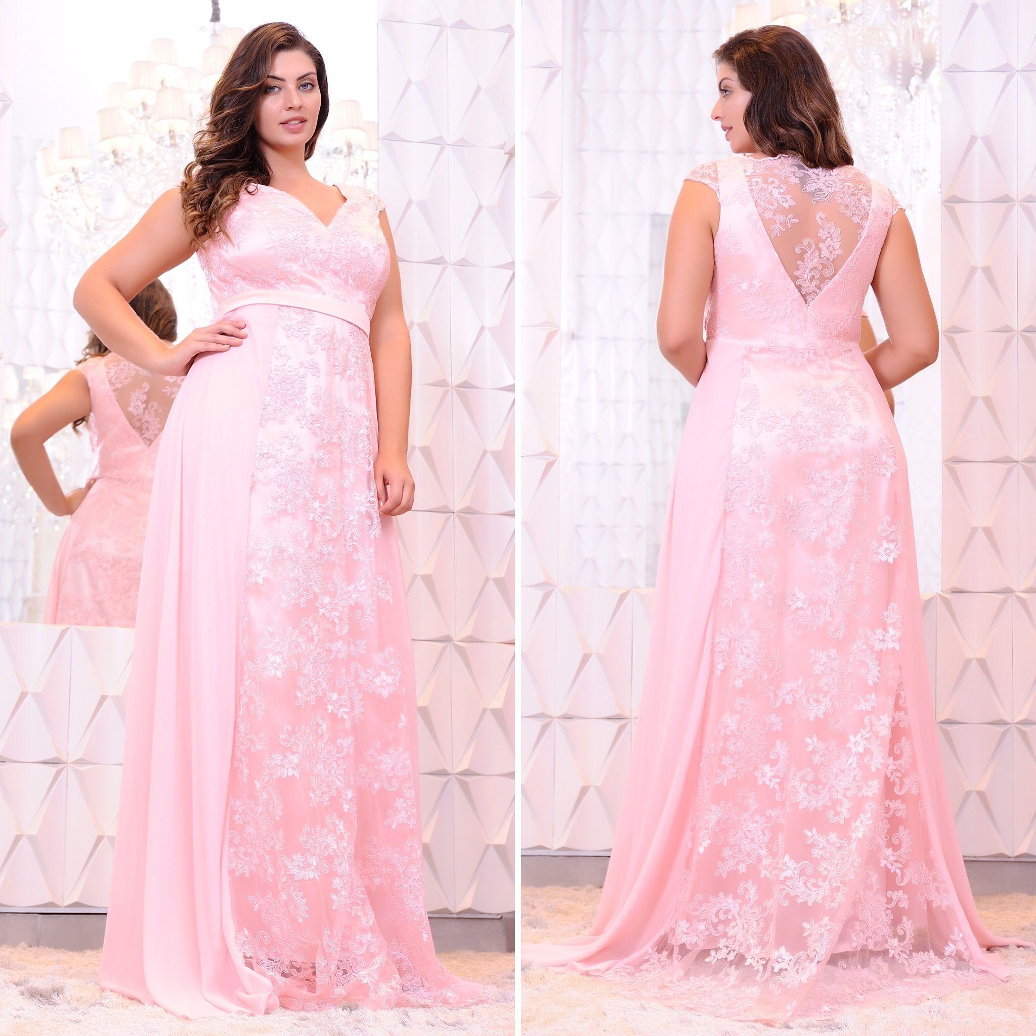 Vestido longo para festa de casamento plus size