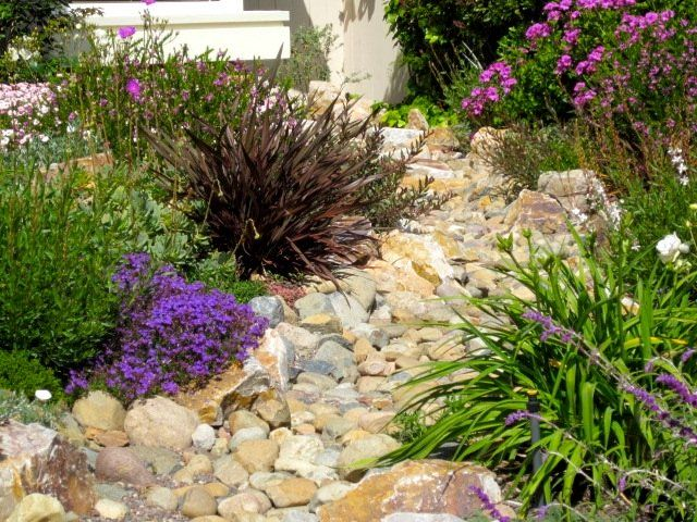 Front yard landscaping without grass rock garden for Landscaping without plants