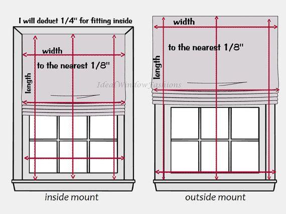 Flat Roman Shade Send Your Own Fabric Price Per Square Ft Flat Roman Shade Roman Shades Outside Mount Roman Shades