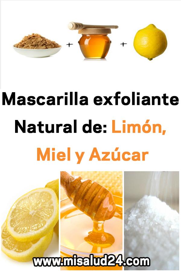 Mascarilla Exfoliante Natural De Limón Miel Y Azúcar Remedios Belleza Mascarilla Exfoliante Food Fruit Condiments