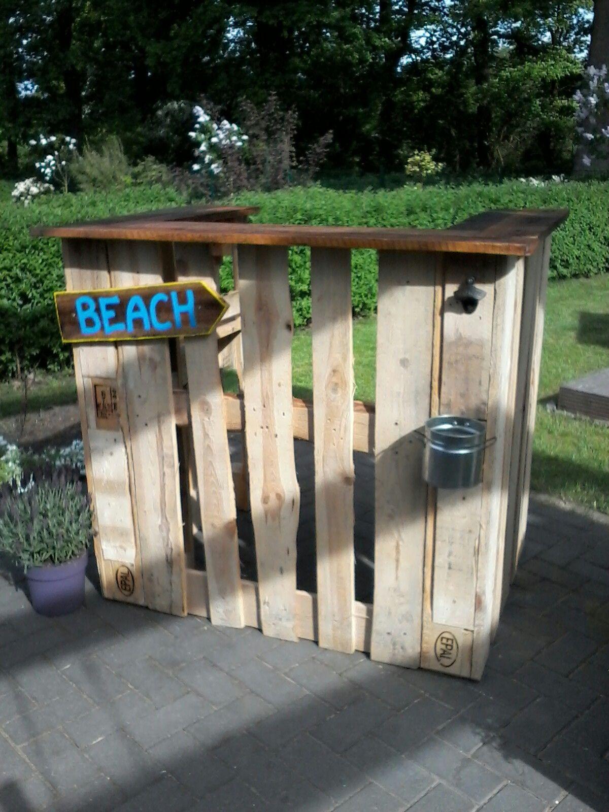 Beach Bar aus Europalletten | Paletten | Pinterest | Bar, Zuhause ...