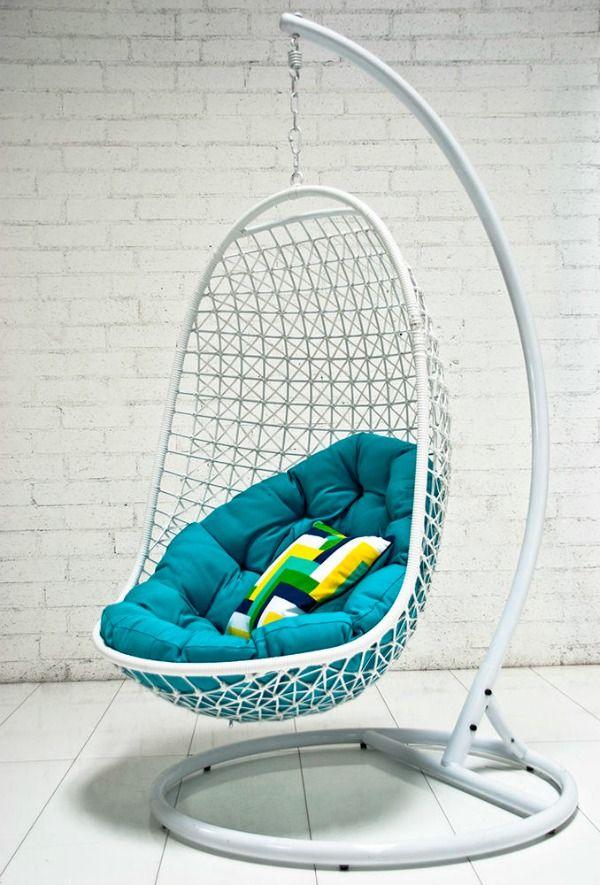 hangstoel-wit-aan-standaard | liz chair | Pinterest | Bedrooms ...