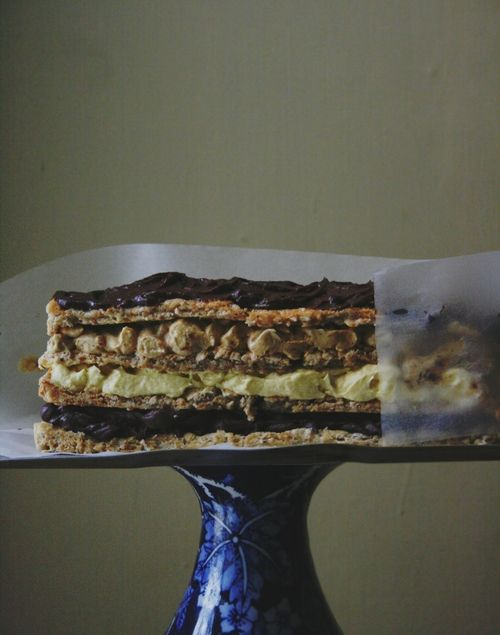 Marjolaine Multilayered Chocolate Cake, maybe it's the same Marjolaine as I tried in Papa Haydn