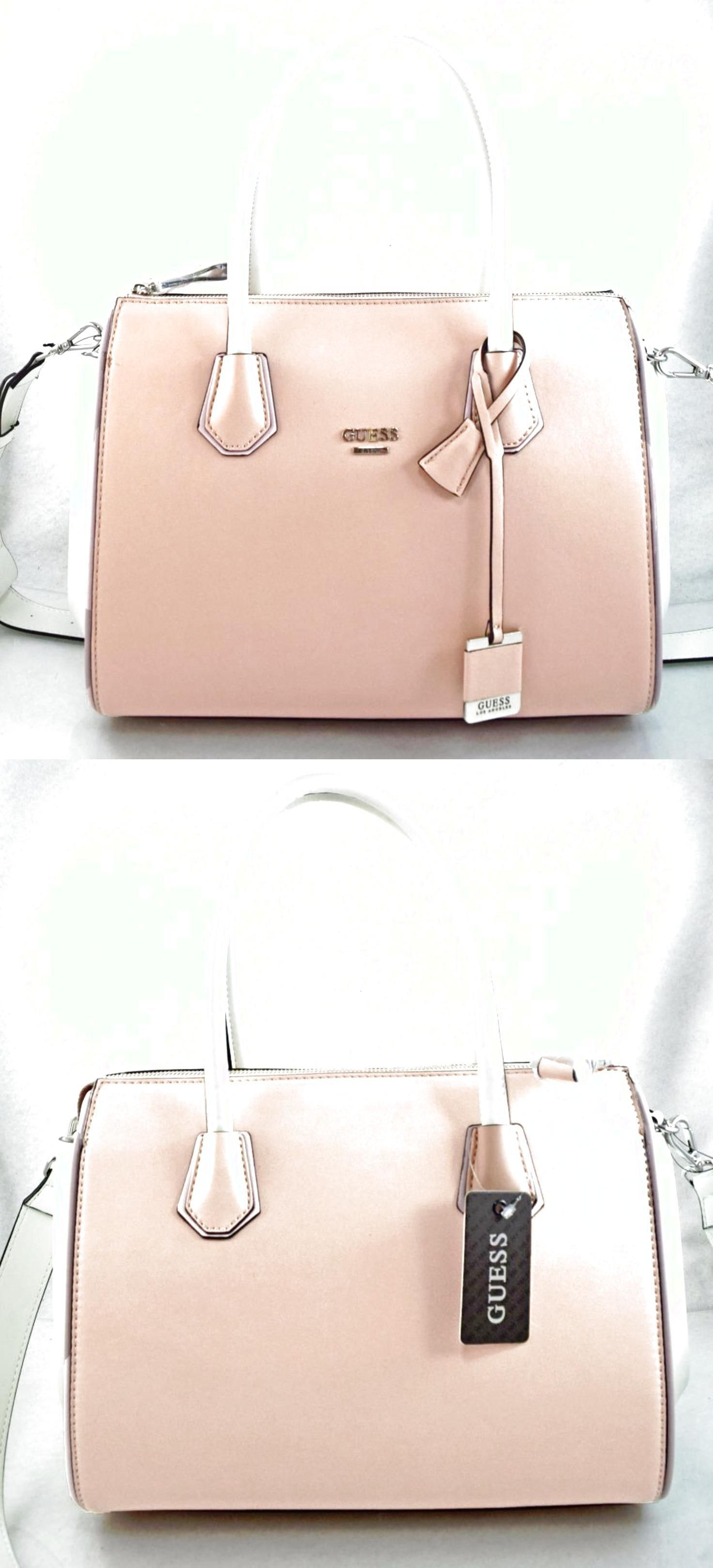bd321be07923 AUTHENTIC NEW NWT GUESS LILY DREAM PINK BLUSH WHITE SATCHEL BAG  75.0 Leather  Backpack Purse