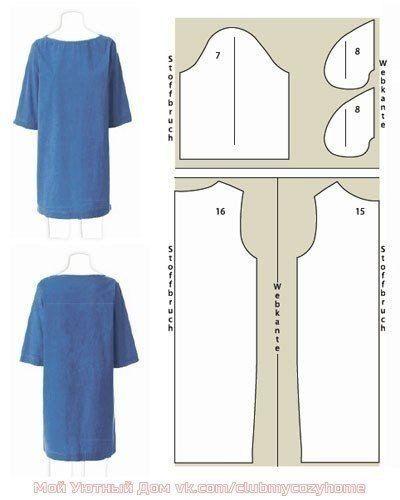 797e131b123 Простые выкройки платьев для начинающих