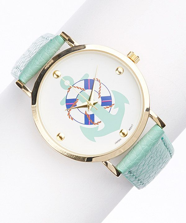 Mint Anchor Watch on #zulily today!