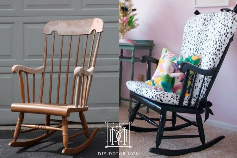 Popular Home Decor Blogger Diy Decor Mom Shares Her Complete Step By Step Tutorial To Y In 2020 Upholstered Rocking Chairs Rocking Chair Nursery Rocking Chair Cushions