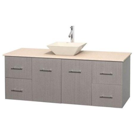 Wyndham Collection Centra 60\u0027\u0027 Single Bathroom Vanity Set, Beige