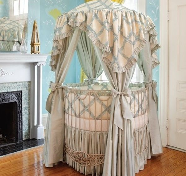 26 Round Baby Crib Designs For A Colorful And Cozy Nursery | Moises ...