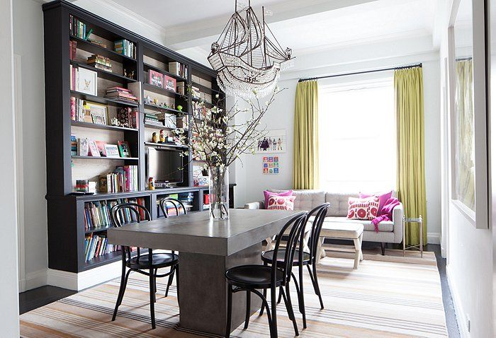 In Her Multifunctional Dining Room Lilly Opted For Chic Comfort A