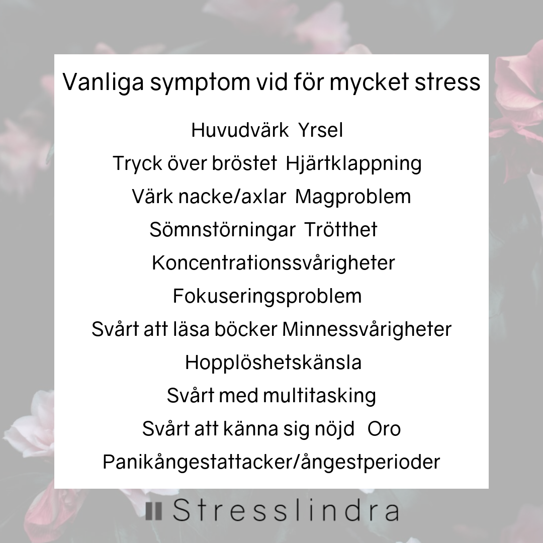 symtom på stressmage