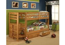 Pine Bunk Bed With Storage From Aarons Pine Bunk Beds Bunk Beds Kid Beds